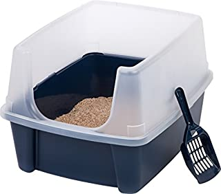 IRIS Open Top Cat Litter Box Kit with Shield and Scoop, Blue (B002BDU8EW) | Amazon price tracker / tracking, Amazon price history charts, Amazon price watches, Amazon price drop alerts
