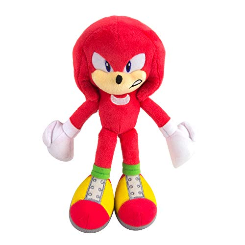 Sonic Modern Knuckles Collector Plush Toy | Official Licensed Product from Tomy | Featuring Fine Details and Embroidery -