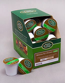 Green Mountain Coffee Mocha Nut Fudge, K-Cup Deal out Pack for Keurig Brewers 24-Count