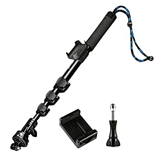 Smatree Y1 Telescopic Pole for GoPro Hero 6/5/4/3+/3/2/1/Session (WiFi Remote Controller is NOT Included)