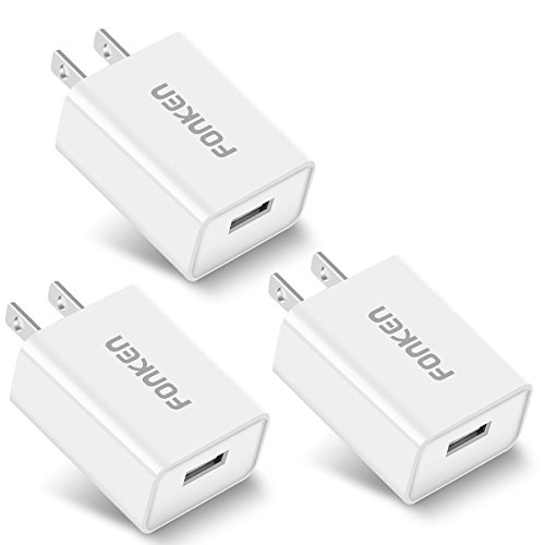 [3-Pack] Quick Charge 3.0, FONKEN 18W 3Amp USB Wall Charger QC 2.0 Adapter Compatible with Samsung Galaxy S7 S6, Note 5/4, LG G5 V10, Nexus 6,HTC10, Comply with UL 60950-1 (White)