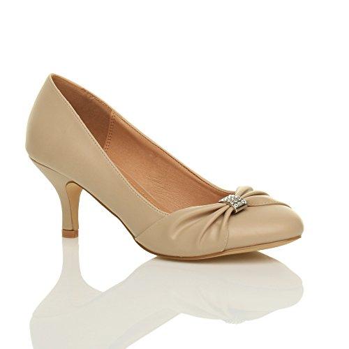 Ajvani - Zapatos de vestir para mujer Nude Matte