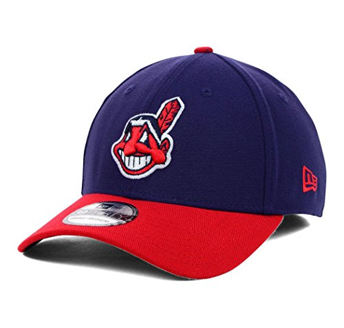 MLB Cleveland Indians Team Classic Home 39Thirty Stretch Fit Cap, Blue, Medium/Large