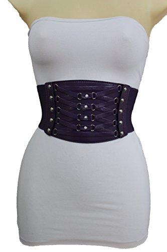 Purple Stud Belt - 8