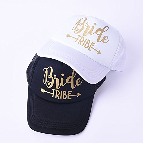 6 Pack Bride Tribe Arrow Mesh Hats Bachelorette Party Snapback Bridal Wedding Truck Caps Adjustable by Erying