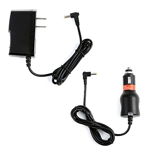 2A Car Charger +AC/DC Power Adapter For GPX PD901 B/U PD901W Portable DVD Player