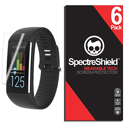 Spectre Shield (6 Pack) Screen Protector for Polar A360 Accessory Polar A360 Case Friendly Full Coverage Clear Film