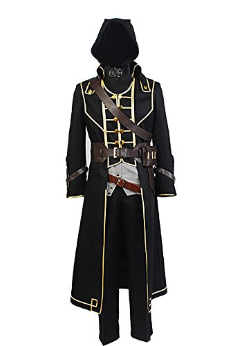 Men's Halloween Costume Corvo Attano Cosplay Costume Suit Outfit,Medium -