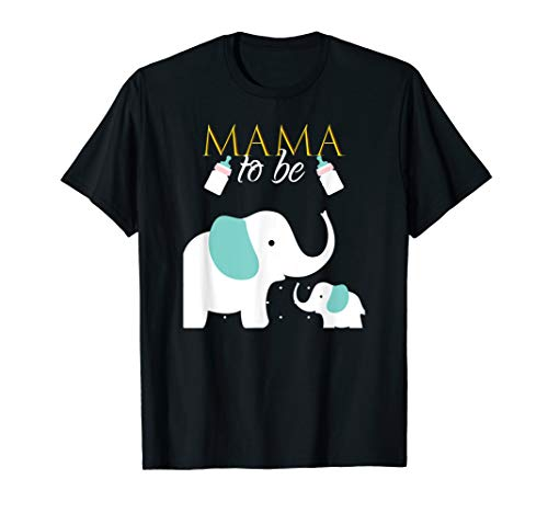 Mama To Be Elephant Baby Shower For Boy Shirt Outfit Tee