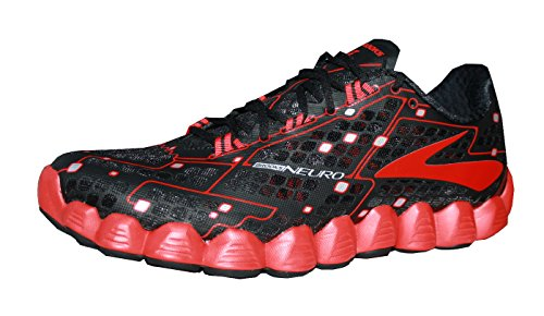 Brooks Neuro Running Shoes Black/High Risk Red jwvTgFL