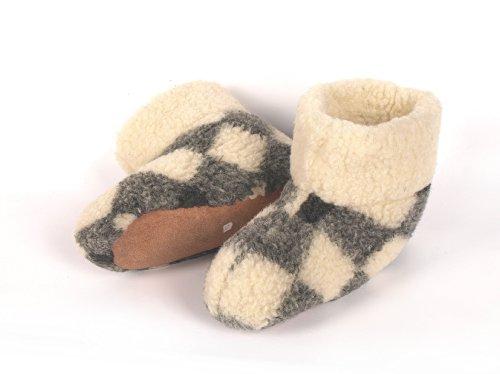 Men's 100%  Pure laine de mouton chaussons avec semelle en daim