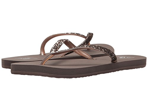 Reef Rubber Sole Sandals - Reef Women's Stargazer Sandal (7 B(M) US, Iron)