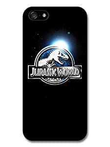 Jurassic World in Universe Blue Logo Black Background case for iPhone 5 5S A8207