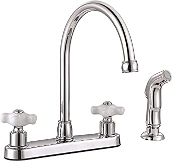 Premier 3552606 Wellington Two Handle Kitchen Faucet With Side Spray