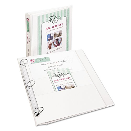 Avery Flip Back 360 Degree Binder with 1 Inch Ring, White, 1 Binder (Ring Vinyl Presentation Binder)