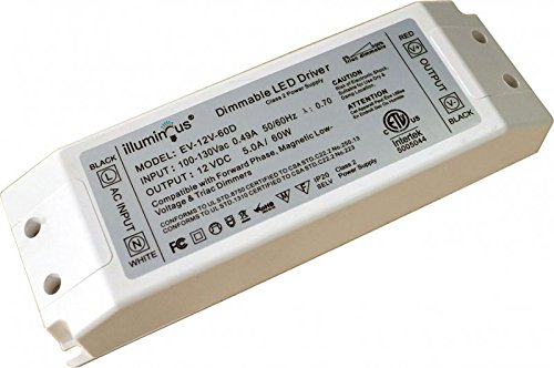 12V DC 60W Dimmable 120V LED Driver ETL (UL) approved