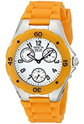 Invicta Unisex 18792 Angel Orange/White Silicone Watch