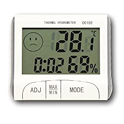 Generic Thermometer Hygrometer Clock Multi Function Indoor Outdoor Temperature Humidity DC102
