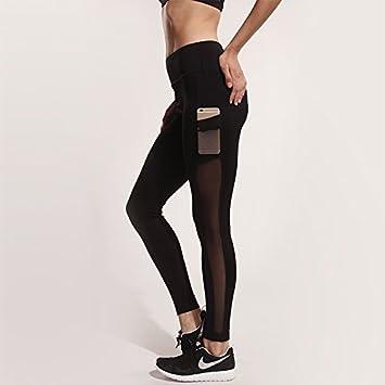 ZHUDJ Fitness Sport Hose Tight Running Yoga Net Garn Nähen Mit ...