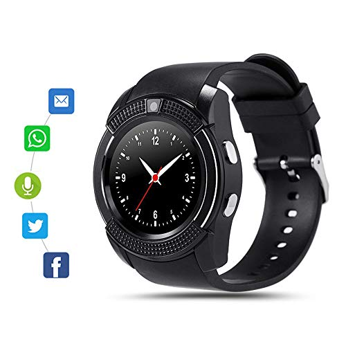 Bluetooth Smart Watch for Android Phone,Android Smart Watch Touchscreen with Camera, SIM Card Slot,Music for iPhone Samsung by Zuchini