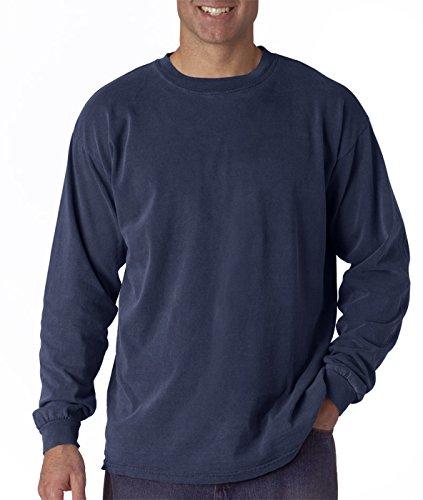 Comfort Colors Ringspun Garment-Dyed Long-Sleeve T-Shirt, 3XL, CHINA BLUE