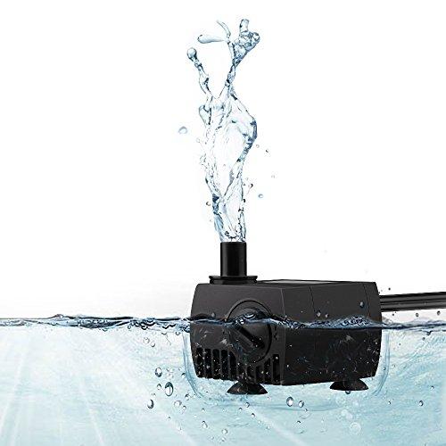 Victec 80 Gph Submersible Aquarium Water Pump Fish Tank