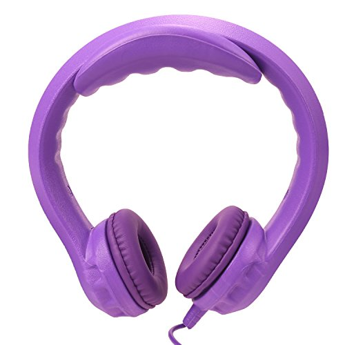 Price comparison product image NEWSTYLE Volume Limited Wired Headphones - Child-Safe Foam Headphones for Kids, Protect Children's Earphones for Home and Travel - Purple