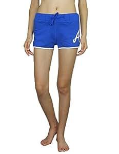 Womens MLB Atlanta Braves Sports Shorts by Pink Victoria's Secret M Blue