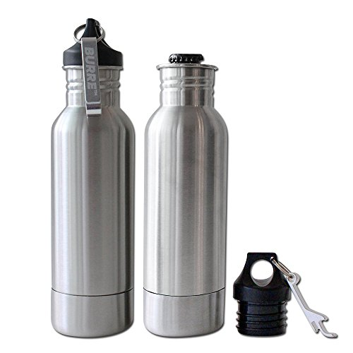 Gadget Shoppers Stainless Steel Beer Insulator Cooler Bottle with Opener