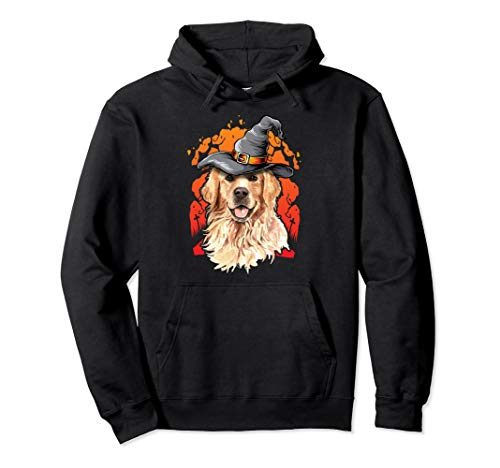 (Golden Retriever Halloween Costume Ideas Happy Halloweenie Pullover)