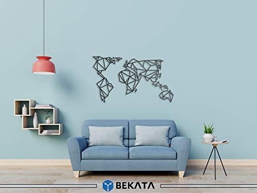 Bekata - Decoración de Pared de Metal, diseño de Mapa del Mundo ...