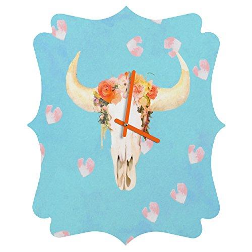 Deny Designs Kangarui, Romantic Boho Buffalo Ii, Quatrefoil Clock, Medium by Deny Designs