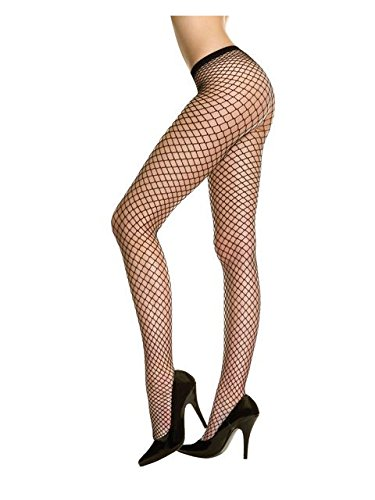 Rubies Red Fishnet Tights Stockings Sexy Halloween Costume Party One Size