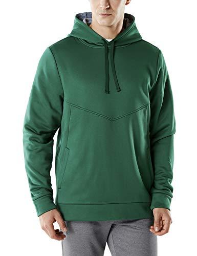 Tesla TM-YKH15-FGN_X-Large Men's Pullover Active Winter Fleece Sweatshirt Top Hoodie YKH15 ()