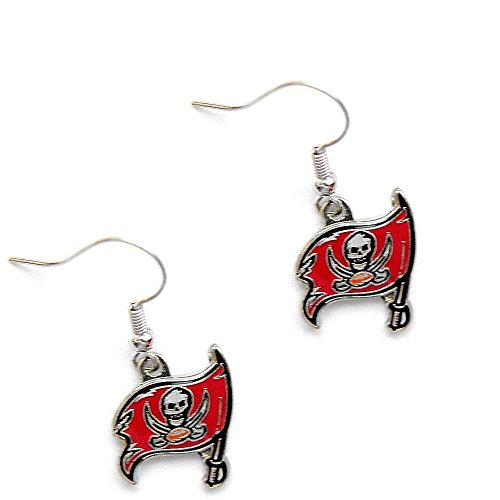 Tampa Bay BUCS Buccaneers Dangle Logo Earring Set Charm Gift NFL - Tampa Bay Buccaneers Dangle Earrings