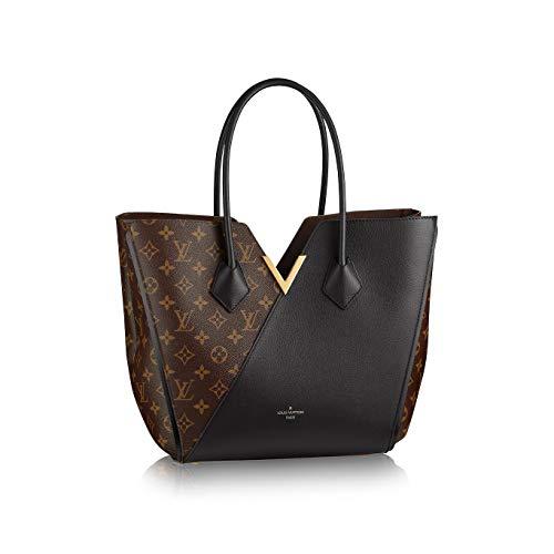 Paper-LV Monogram Canvas Kimono PM Cherry/Noir/Taupe Glace Shoulder Handbag for women (Noir)
