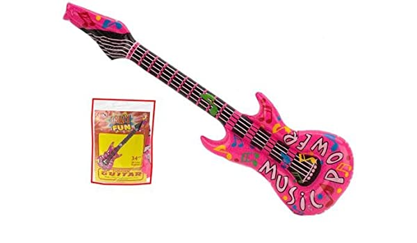 Guitarra hinchable rosa 32