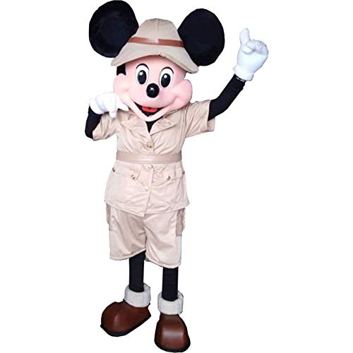 Mickey Mouse Safari Jungle Mascot Costume Party Character Birthday Halloween ()