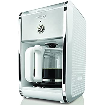 BELLA 13659 Dots Collection 12 Cup Coffee Maker White