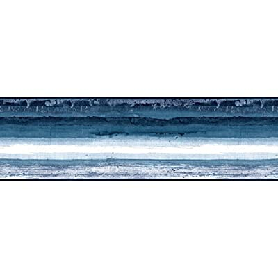 York Wallcoverings Portfolio II Mesa Border Removable Wallpaper, Blue