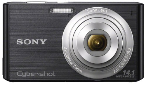 Sony Cyber-shot DSC-W610 14.1 MP Digital Camera with 4x Optical Zoom and 2.7-Inch LCD (Black) (2012 Model) (Shot Detection Cyber Face Sony)