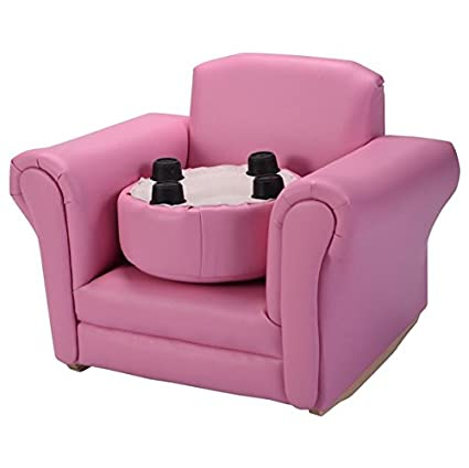 Amazon.com: Auténtico Children Pink Armchair With Matching Footstool ...