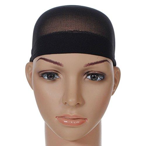 Unisex Stocking Wig Cap Snood Mesh Natural Black Wig Caps (Hallowen Wigs)