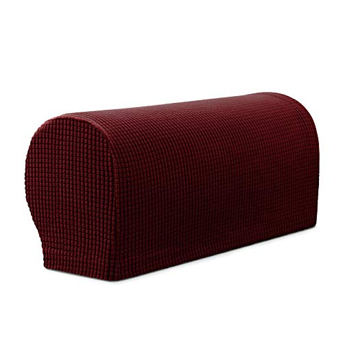 Subrtex Spandex Stretch Fabric Armrest Covers Anti-Slip Furn
