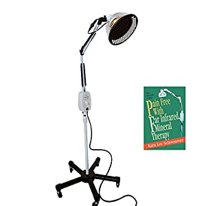TDP Lamp CQ222 + FREE Pain Relief Book - TRY Far Infrared Lamp by VITA ACTIVATE | Large 6.5 Inch Detachable Head | Joint Back Pain Relief Device