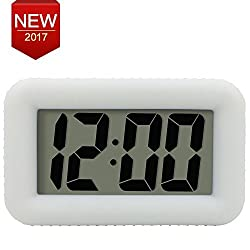 Digital LED Alarm Clock with Dimmer Snooze Home Office One Key Mini Alarm Clock Bedside Table Night Clock White