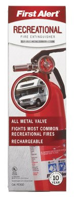 First Alert Rec5 Rechargeable Recreational Fire Extinguisher (Rechargeable Fire Extinguishers)