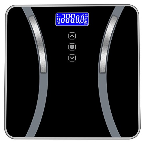 Kimanli Accurate Body Bathroom Fat Scale Display Seven Ttems of Data 180KG/400 Pounds Highly Accurate Digital Bathroom ()