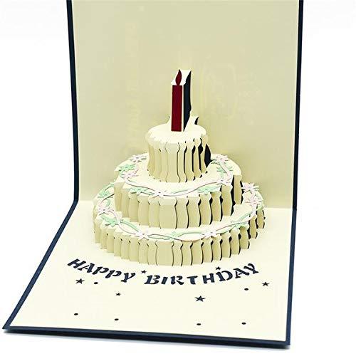 Heropantee Handmade 3D Pop-up Semi Open Birthday Cake Greeting Card (B07RYXL2RD) Amazon Price History, Amazon Price Tracker