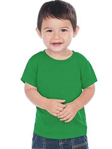 Kavio! Unisex Infants Crew Neck Short Sleeve Tee (Same IJC0432) Kelly Green 24M
